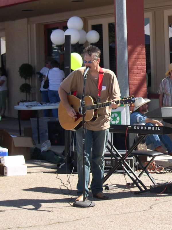 Performing in the Madisonville, Texas town square